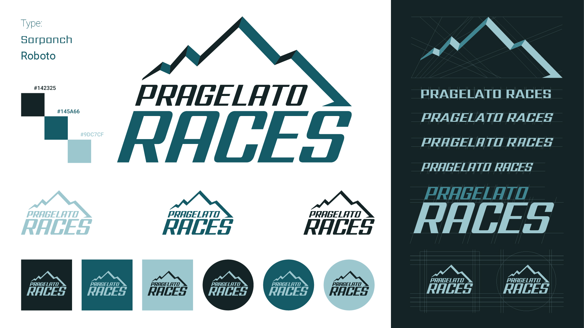 Pragelato Races Logo Design